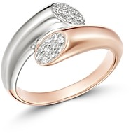 Bloomingdale's Pave Diamond Bypass Ring in 14K White & Rose Gold, 0.10 ct. t.w. - 100% Exclusive