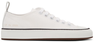 Common Projects White Canvas Tournament Low Sneakers