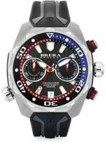 Pro Diver Stainless Steel & Rubber Strap Watch