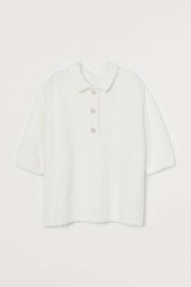 H&M Sparkly-button fluffy top