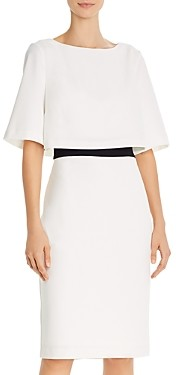 Adrianna Papell Tiered Crepe Dress