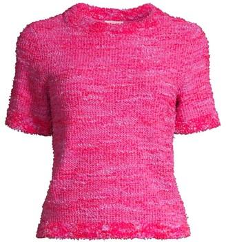 Kate Spade Knit Tweed Blouse