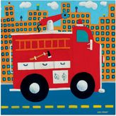 Oopsy Daisy Fine Art For Kids Fire Truck Canvas Wall Art in Red