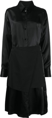 MM6 MAISON MARGIELA Apron Detailed Shirt Dress