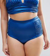 Asos Mix and Match Glam High Waist Ruched Side Bikini Bottom