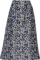 Mother of Pearl Glennis floral-print cotton and silk-blend midi skirt