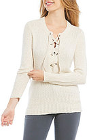 Roxy My Little Bliss Lace-Up Sweater