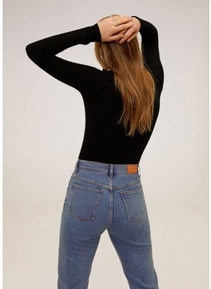 MANGO Embellished Shoulder Jersey Top