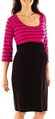 JCPenney Maternity Striped Dress
