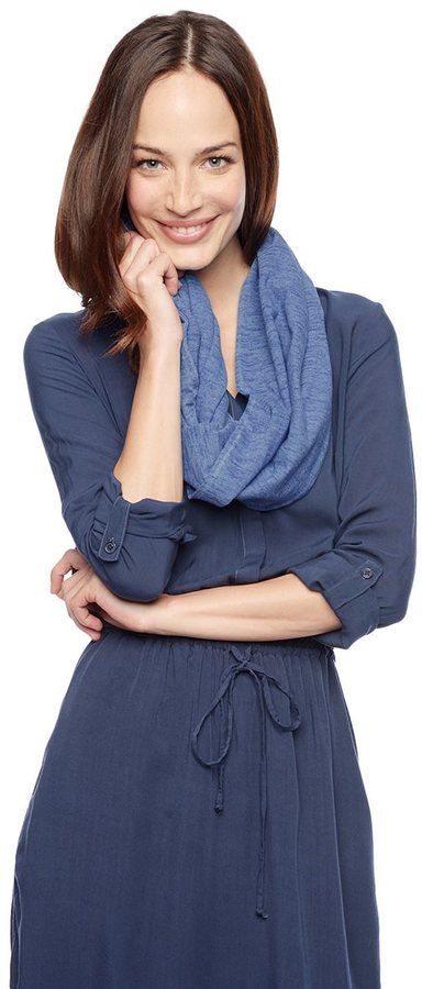 Splendid Indigo Knit Circle Scarf