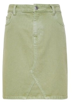 Dorothy Perkins Womens Khaki Denim Mini Skirt