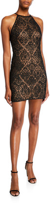 SHO Sleeveless Corded Lace Mini Dress