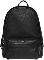 Moncler Logo Tumbled Leather Backpack