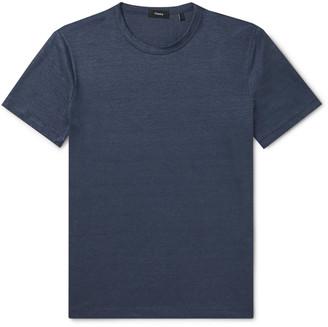 Theory Essential Flex Stretch-Linen T-Shirt