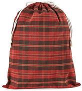 XL Drawstring Bag, Red Plaid