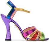 Charlotte Olympia Isla rainbow sandals