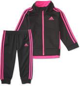 adidas 2-Pc. Tricot Jacket and Jogger Pants Set, Toddler Girls