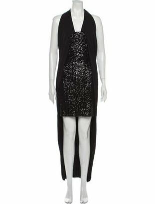 Balmain Halterneck Long Dress w/ Tags Black