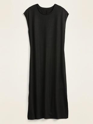 Old Navy Linen-Blend Jersey Midi T-Shirt Shift Dress for Women