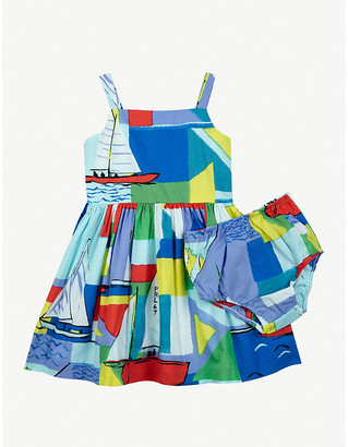Ralph Lauren Nautical printed cotton mini dress and bloomers set 6-24 months