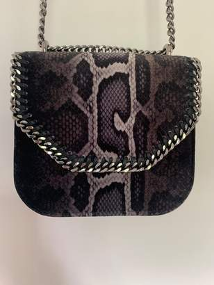 Stella McCartney Pre-Loved Brown Others Fabric Snakeskin Falabella Box Bag ITALY