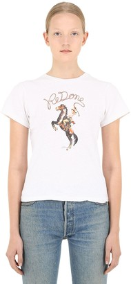 RE/DONE Cowgirl Print Cotton T-shirt
