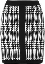 Balmain houndstooth mini skirt - women - Polyamide/Spandex/Elastane/Viscose - 36