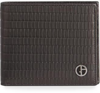 Giorgio Armani Men's Textured Leather Bifold Wallet