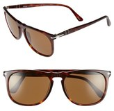 Persol Men's 57Mm Polarized Sunglasses - Havana