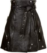 Alexander McQueen Leather Mini Skirt
