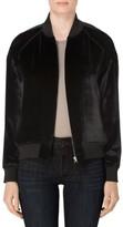 J Brand Women's Pace Velvet Bomber Jacket