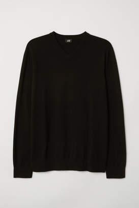 H&M V-neck cotton jumper