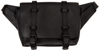 Dries Van Noten Black Leather Messenger Bag
