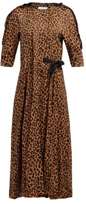 Toga Leopard-print Wrap-around Jacquard Dress - Womens - Leopard