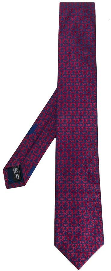 Salvatore Ferragamo Gancio pattern tie