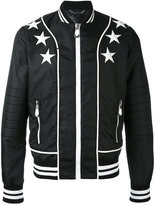 Philipp Plein star patch bomber jacket