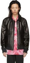 Acne Studios Black Leather Lazlo Jacket