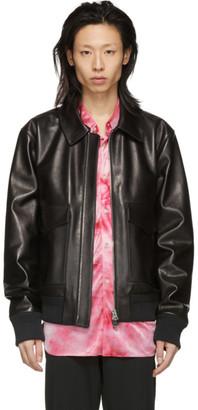 Acne Studios Black Leather Lazlo Jacket