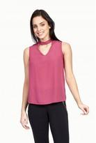 Select Fashion Fashion Womens Purple Choker Neck Woven Vest - size 6