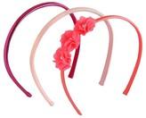 Cat & Jack Girls' 3-Pack Flower Mix Headband Set Cat & Jack - Pink
