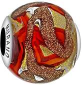 Tuscany Charms Sterling Silver Blue & Copper Murano Bead