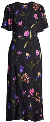 Elie Tahari Ada Floral Georgette Dress