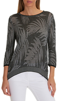 Betty Barclay Fern Stitched Jumper, Black/White