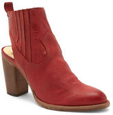 Dolce Vita Leather Booties with Wooden Heels