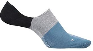 Feetures Hidden Color Block (Navy) No Show Socks Shoes