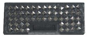 Melie Bianco Pyramid Flap Over Clutch -