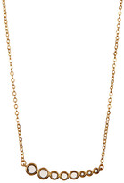 Melinda Maria Graduated London Blue Topaz Linear Pendant Necklace