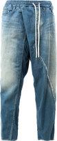 Miharayasuhiro drop crotch tapered jeans - men - Cotton - 48