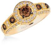 Fine Jewelry LIMITED QUANTITIES Le Vian Grand Sample Sale Chocolate Diamonds & Vanilla Diamonds Ring set in 14K Honey Gold Family