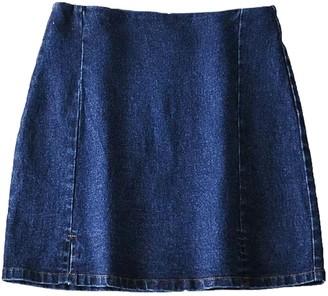 Goodnight Macaroon 'Shiloh' Denim Tight Mini Skirt with Slit (2 Colors)